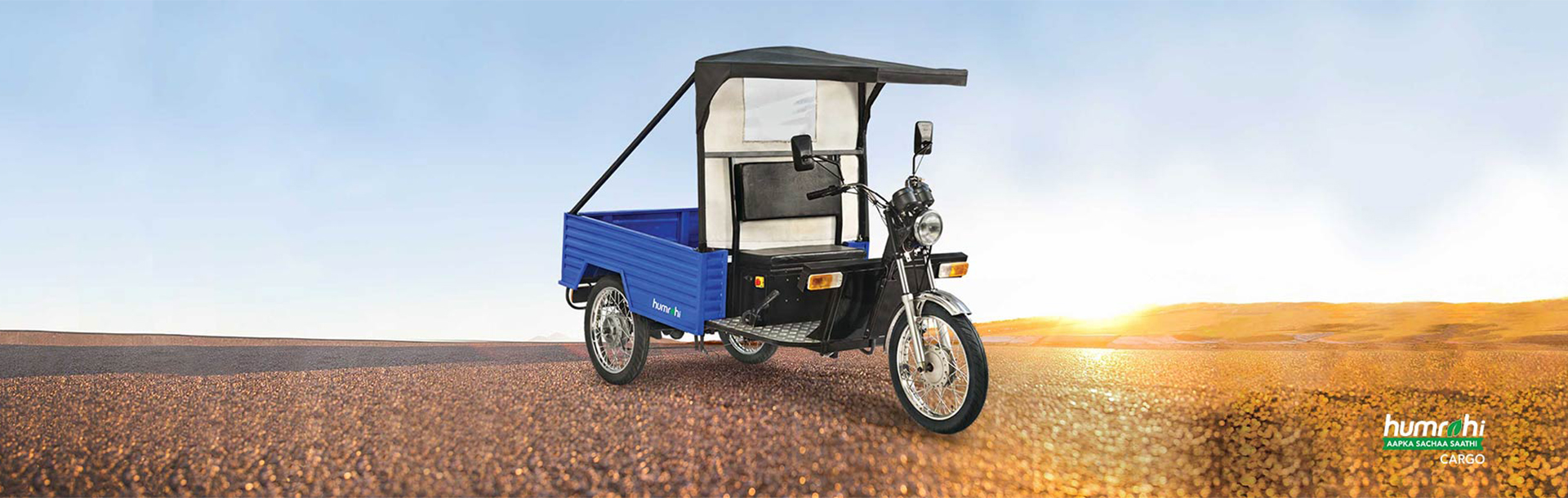 Eletric three wheelers humrahi cargo